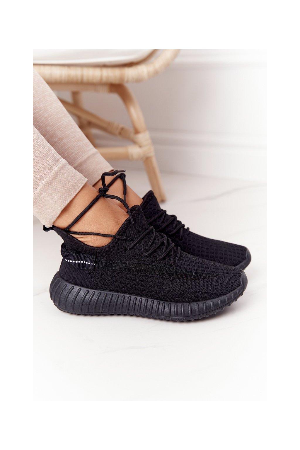 Dámske tenisky farba čierna kód obuvi PC02 ALL BLACK