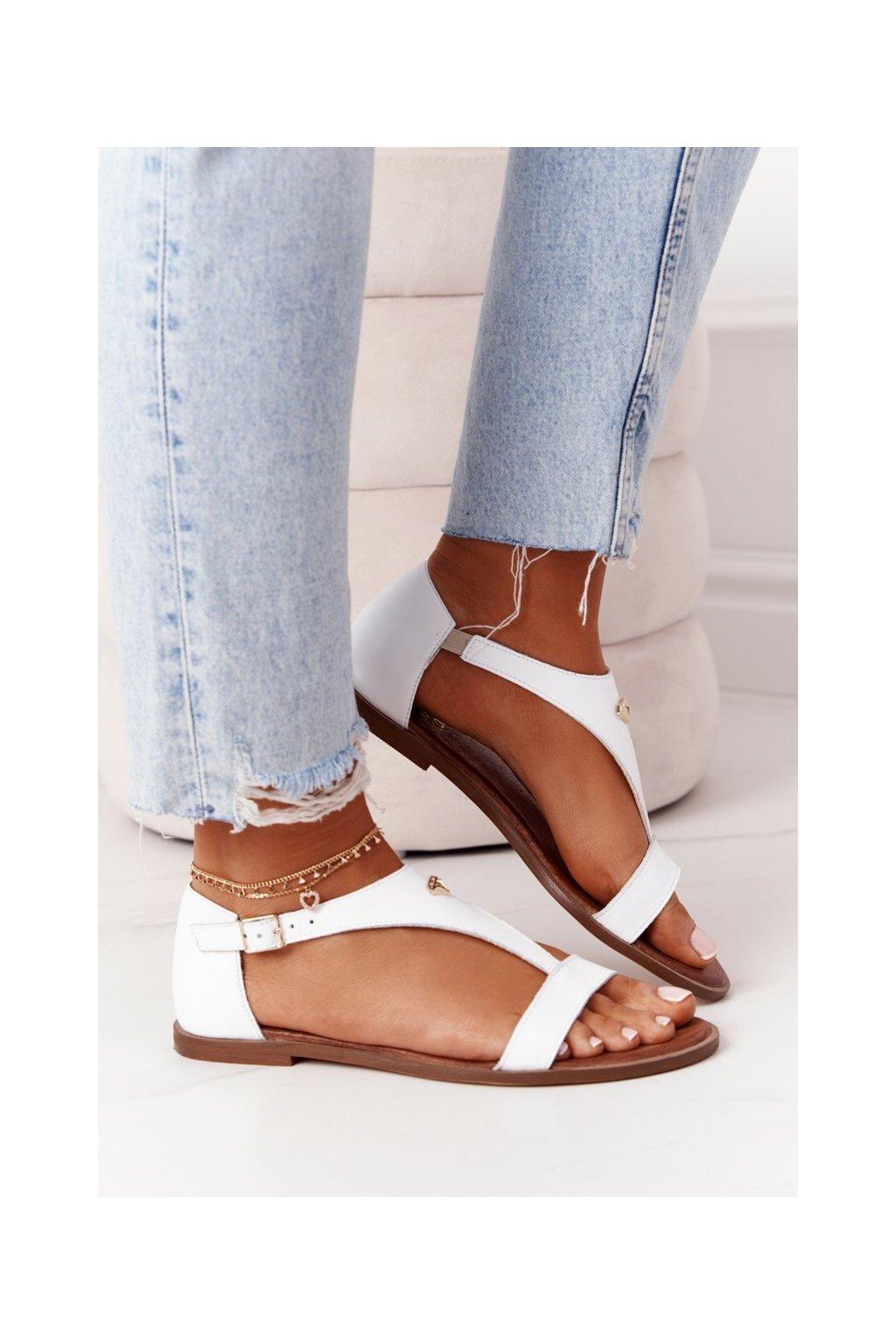 Dámske sandále farba biela kód obuvi 2648/003 WHITE