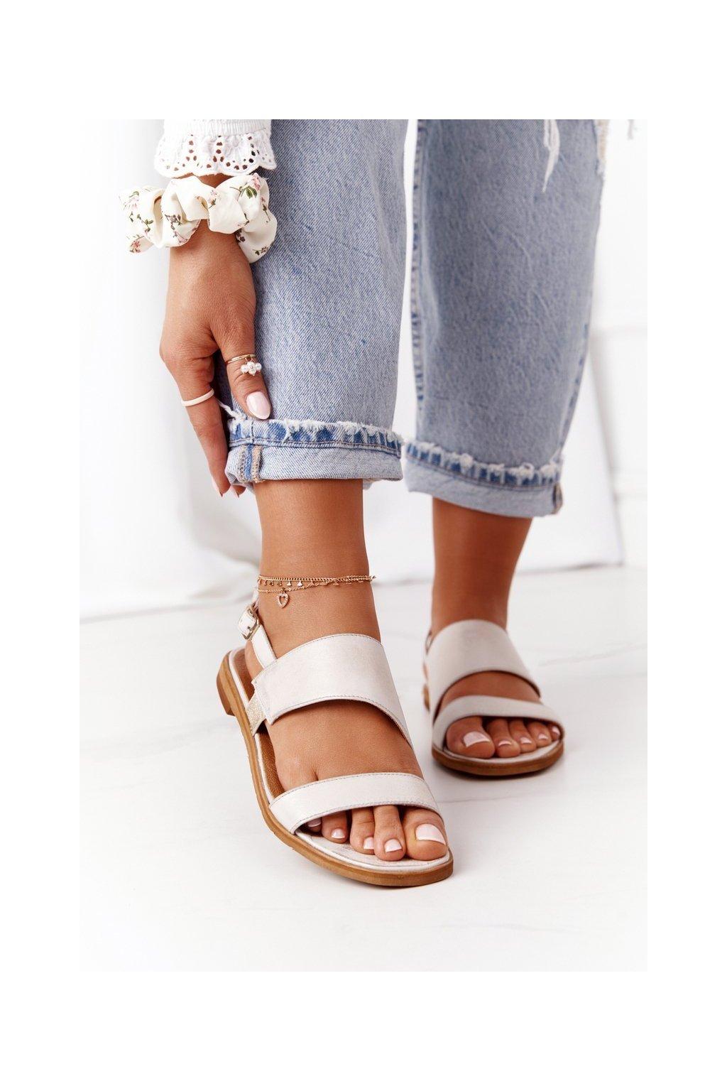 Dámske sandále farba hnedá kód obuvi 05167-25/00-5 ZŁOTO