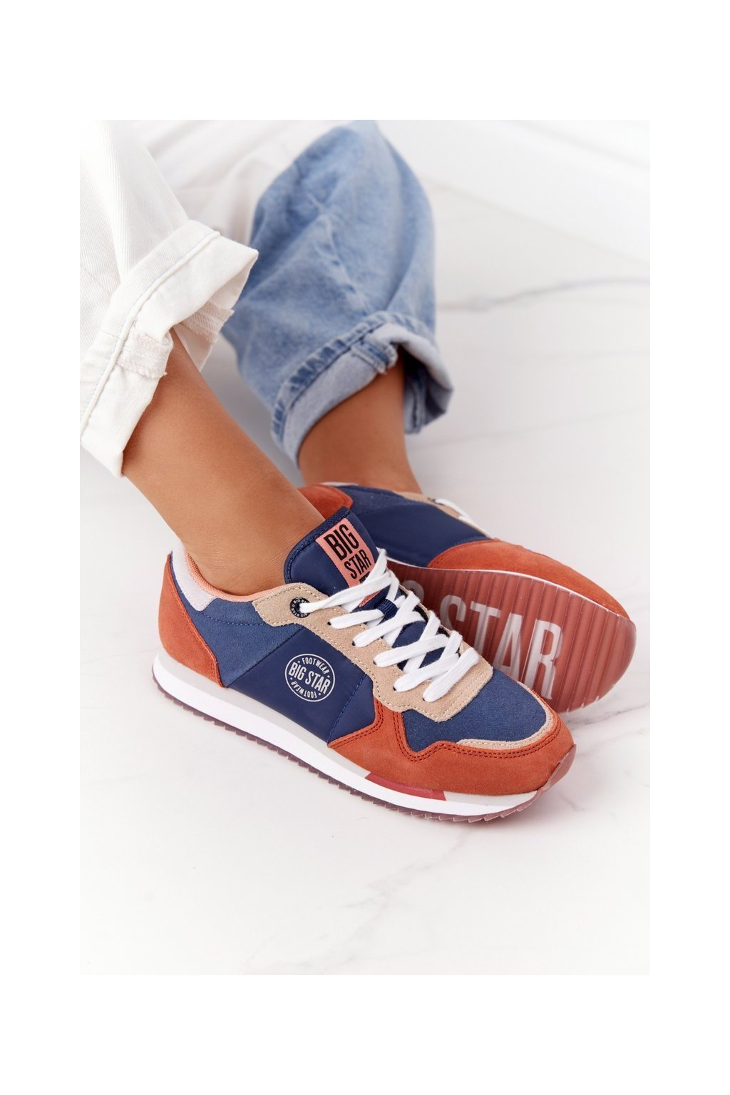 Dámske tenisky farba oranžová kód obuvi HH274567 BLUE/ORANGE