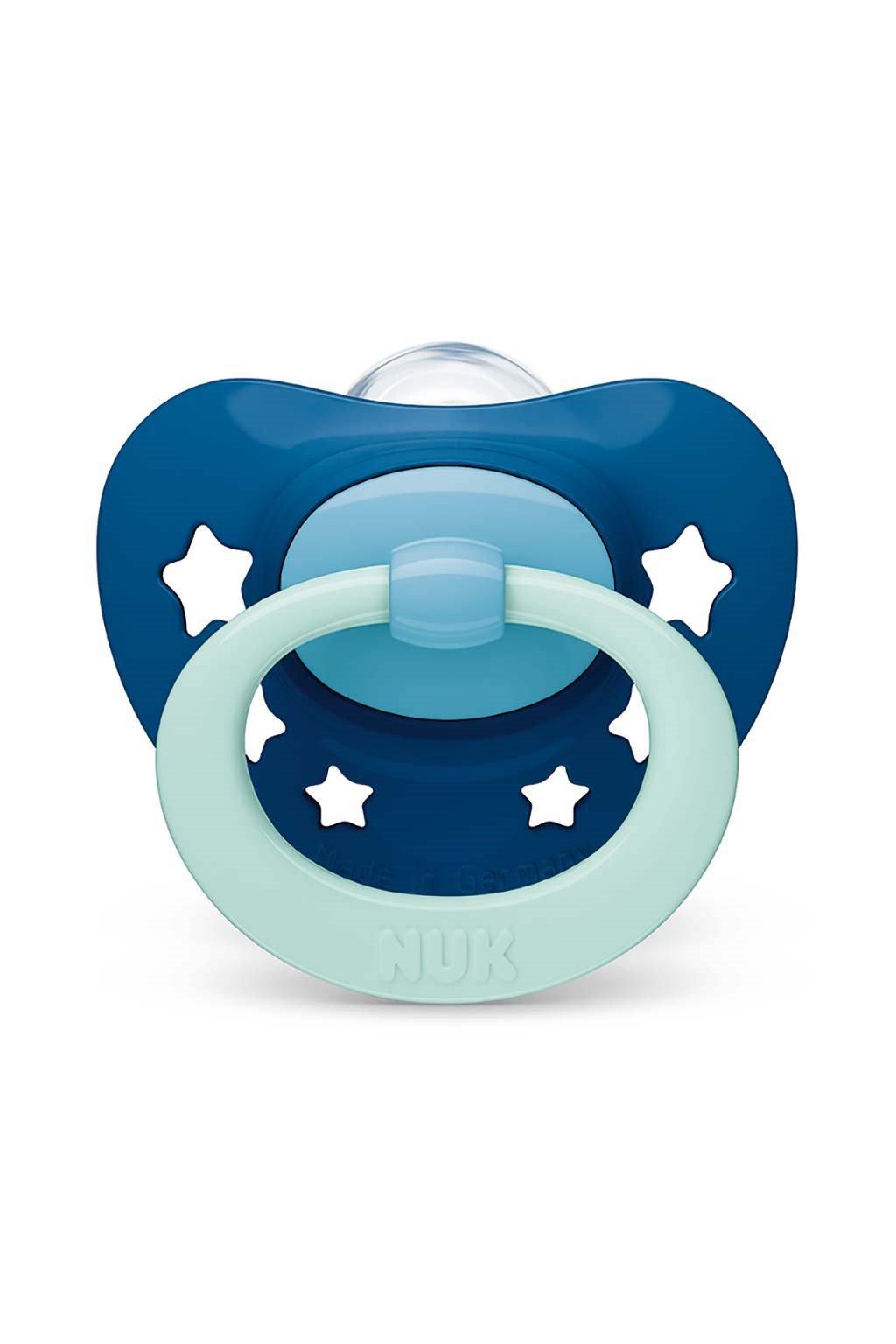 Dojčenský cumlík NUK Classic Signature 18-36m modrý star