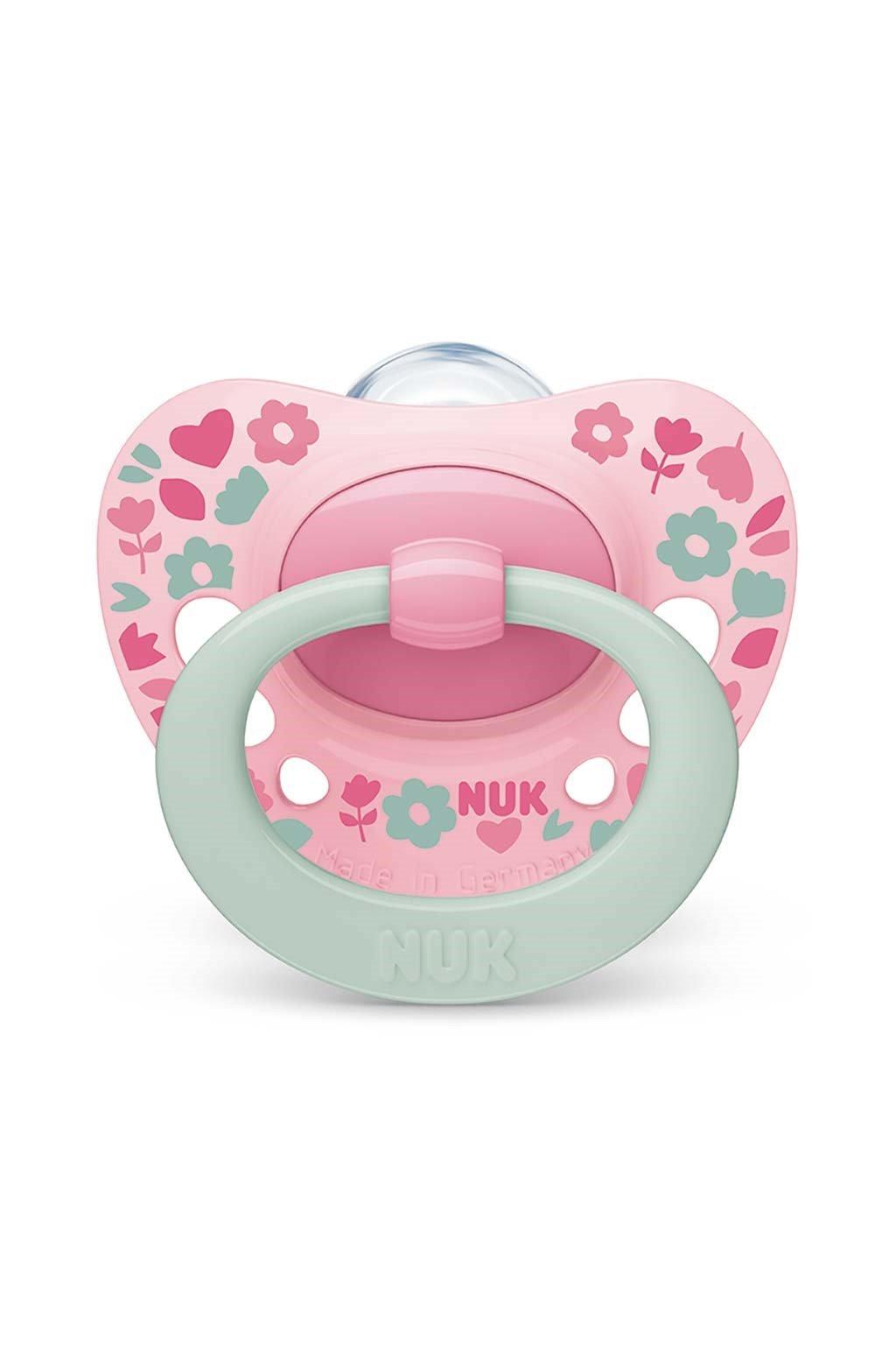 Dojčenský cumlík NUK Classic Signature 18-36m ružový