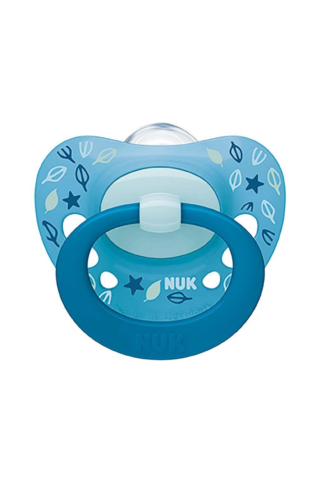 Dojčenský cumlík NUK Classic Signature 18-36m modrý
