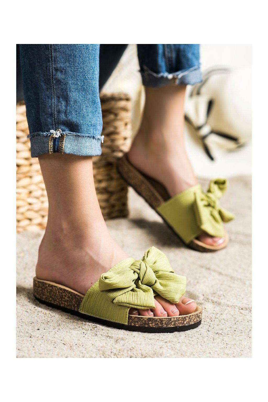 Zelené šľapky Shelovet kod DZ107GR