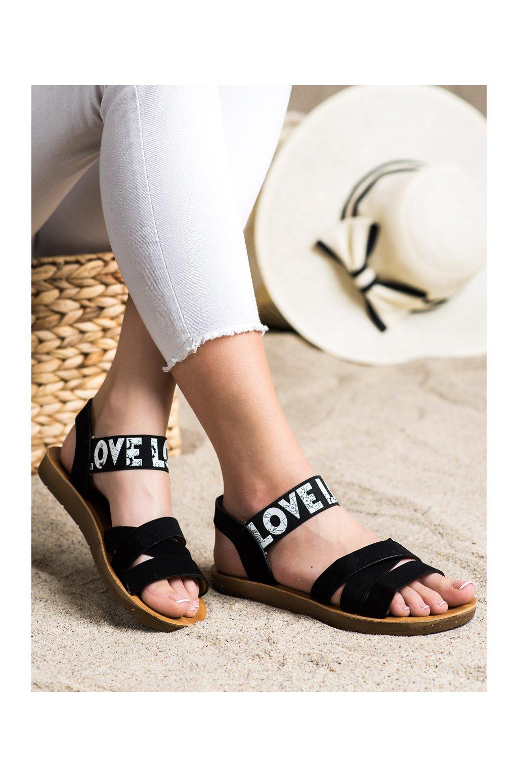 Čierne sandále Shelovet kod E1503B