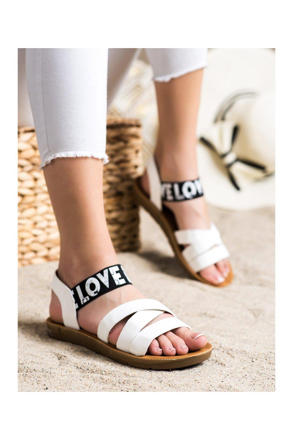 Biele sandále Shelovet kod E1503W
