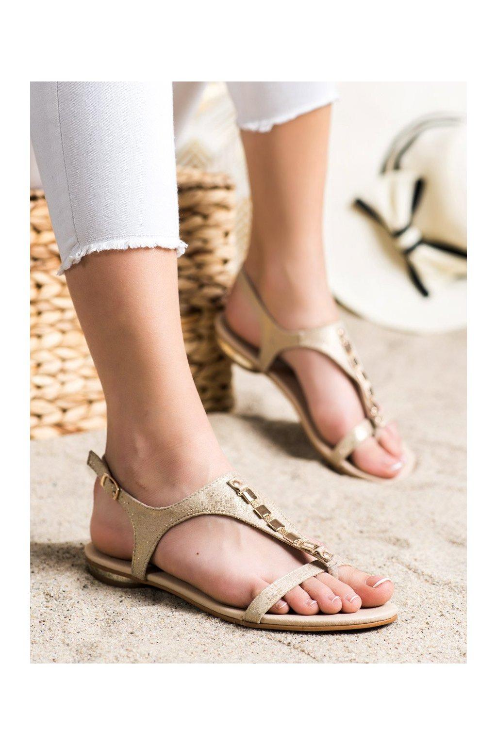 Žlté sandále Vinceza kod YQE21-17128GO