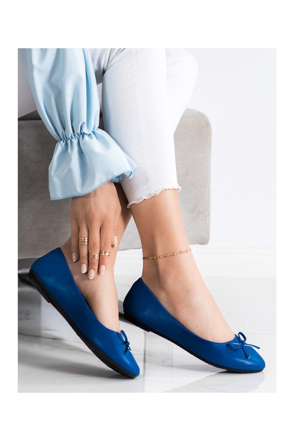 Modré dámske balerínky Diamantique kod 9988-138BL