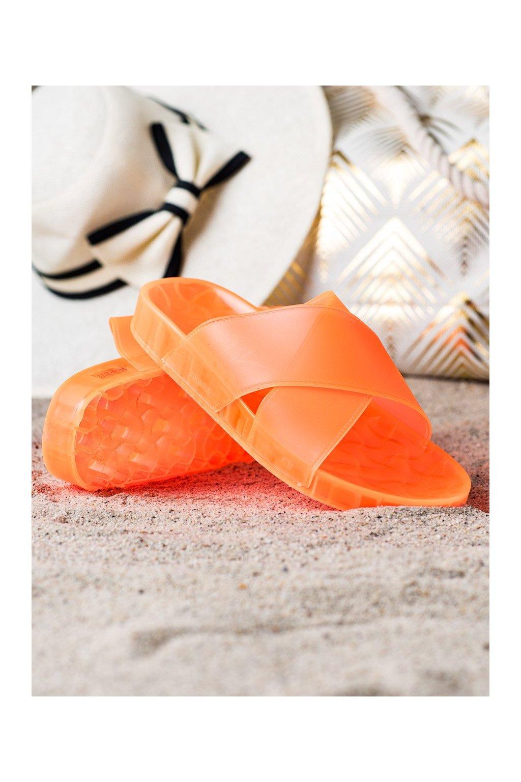 Oranžové dámske šľapky Shelovet kod WSA-84OR