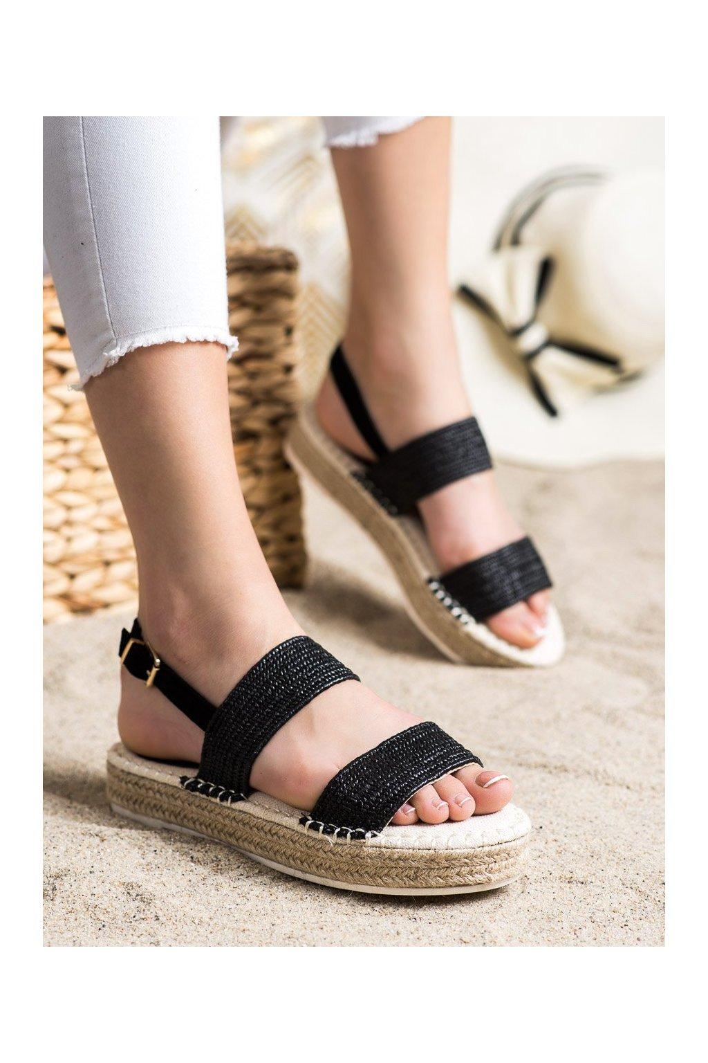 Čierne sandále Shelovet kod WSA-65B