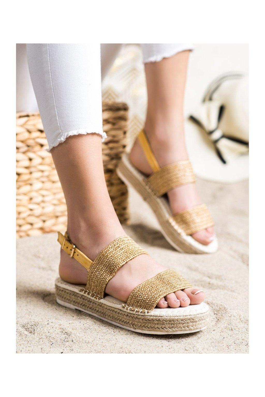 Žlté sandále Shelovet kod WSA-65Y