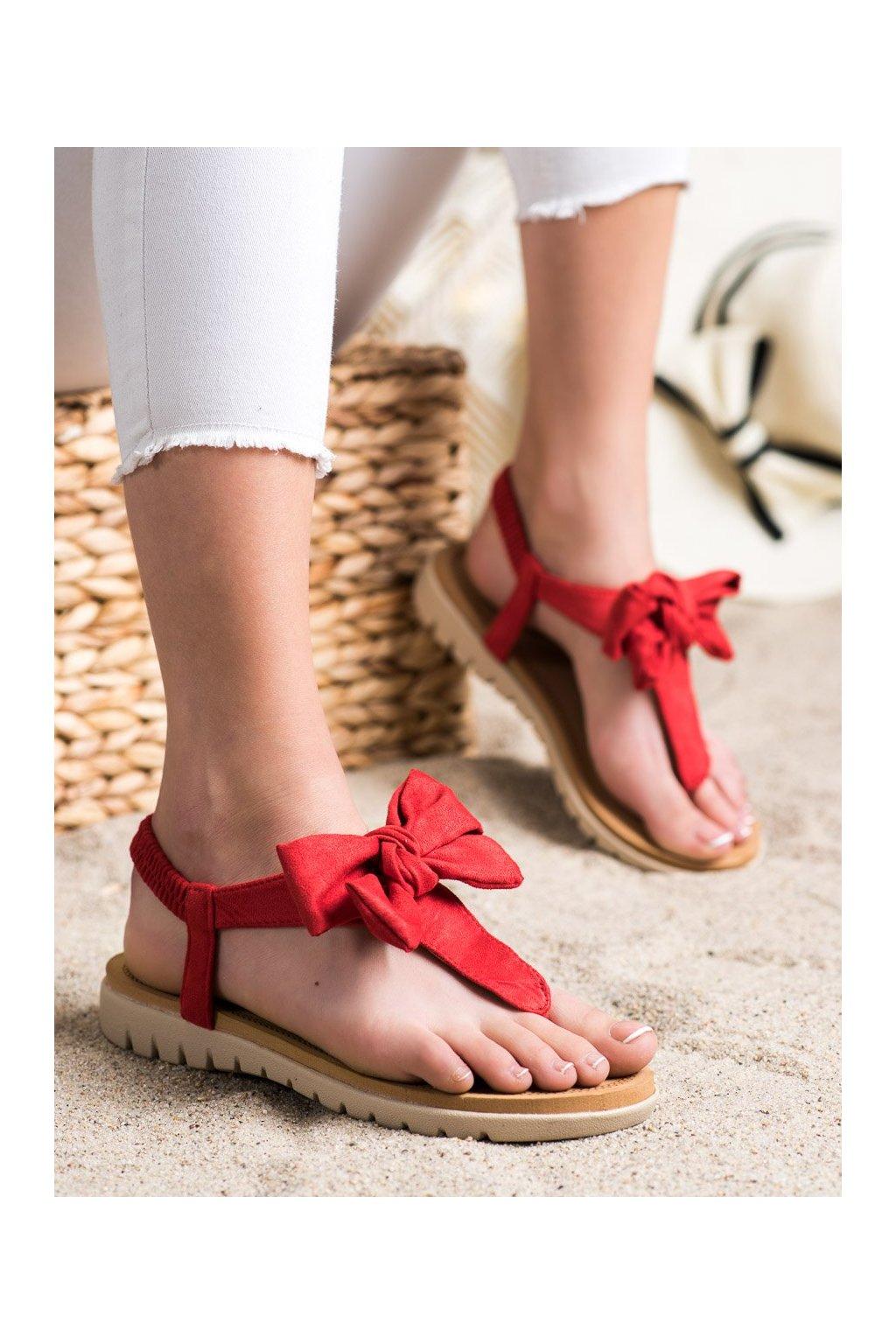 Červené sandále Shelovet kod 697R