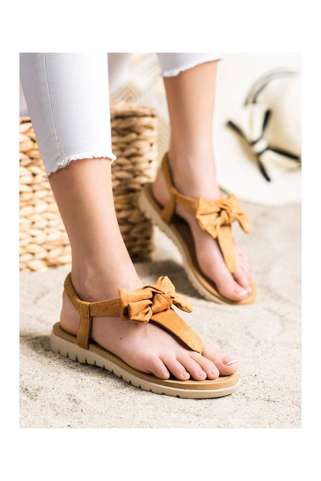 Hnedé sandále Shelovet kod 697C