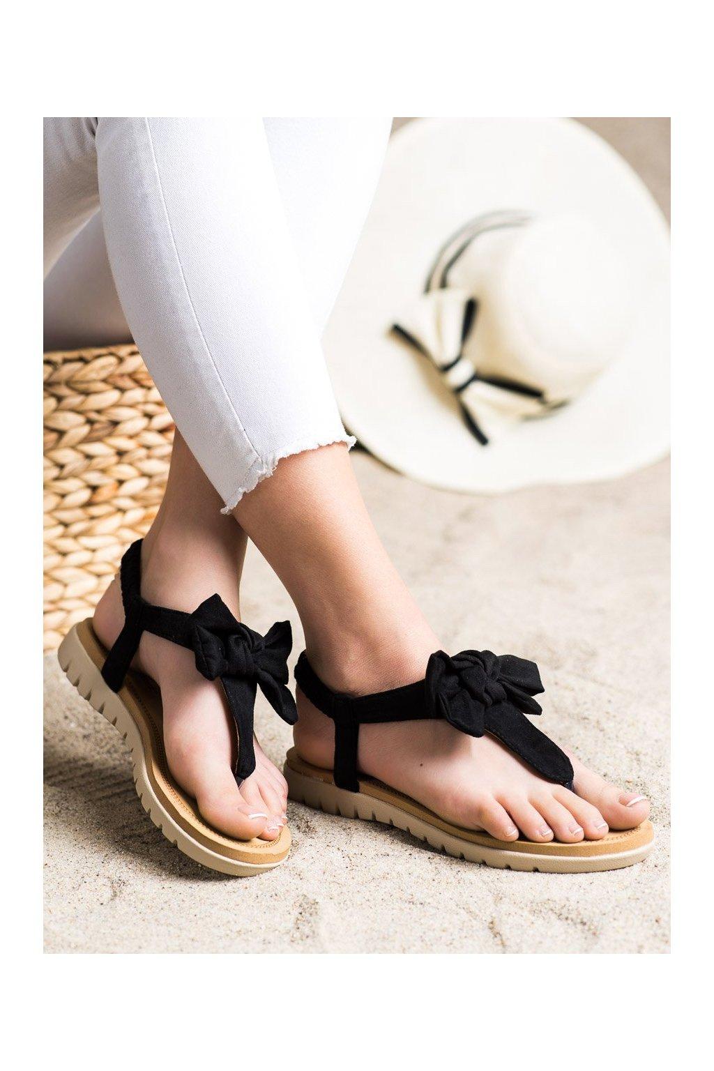 Čierne sandále Shelovet kod 697B