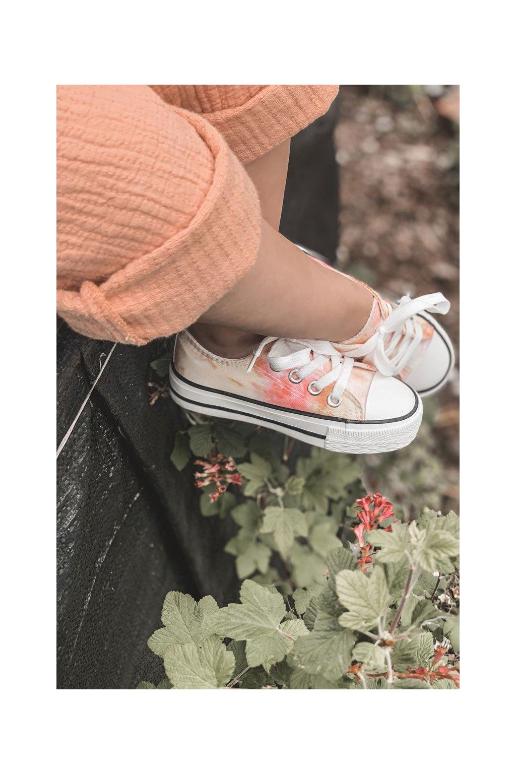 Detské tenisky farba viacfarebná kód obuvi 807-A PINK/ TIE DYE