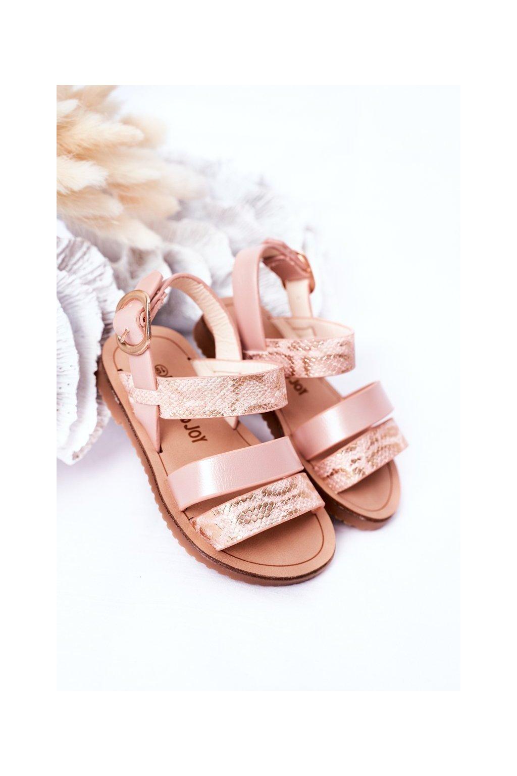 Detské sandále farba ružová kód obuvi 257-B PINK