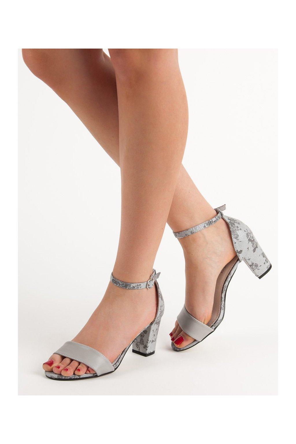 Sivé dámske sandále Goodin kod FL281G