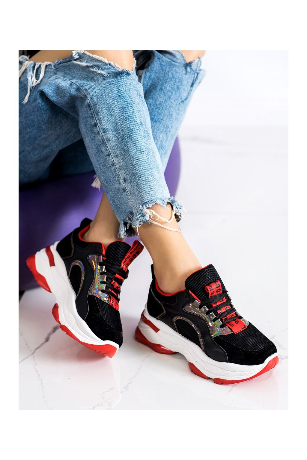 Čierne tenisky Fashion kod R12D518-11B/R