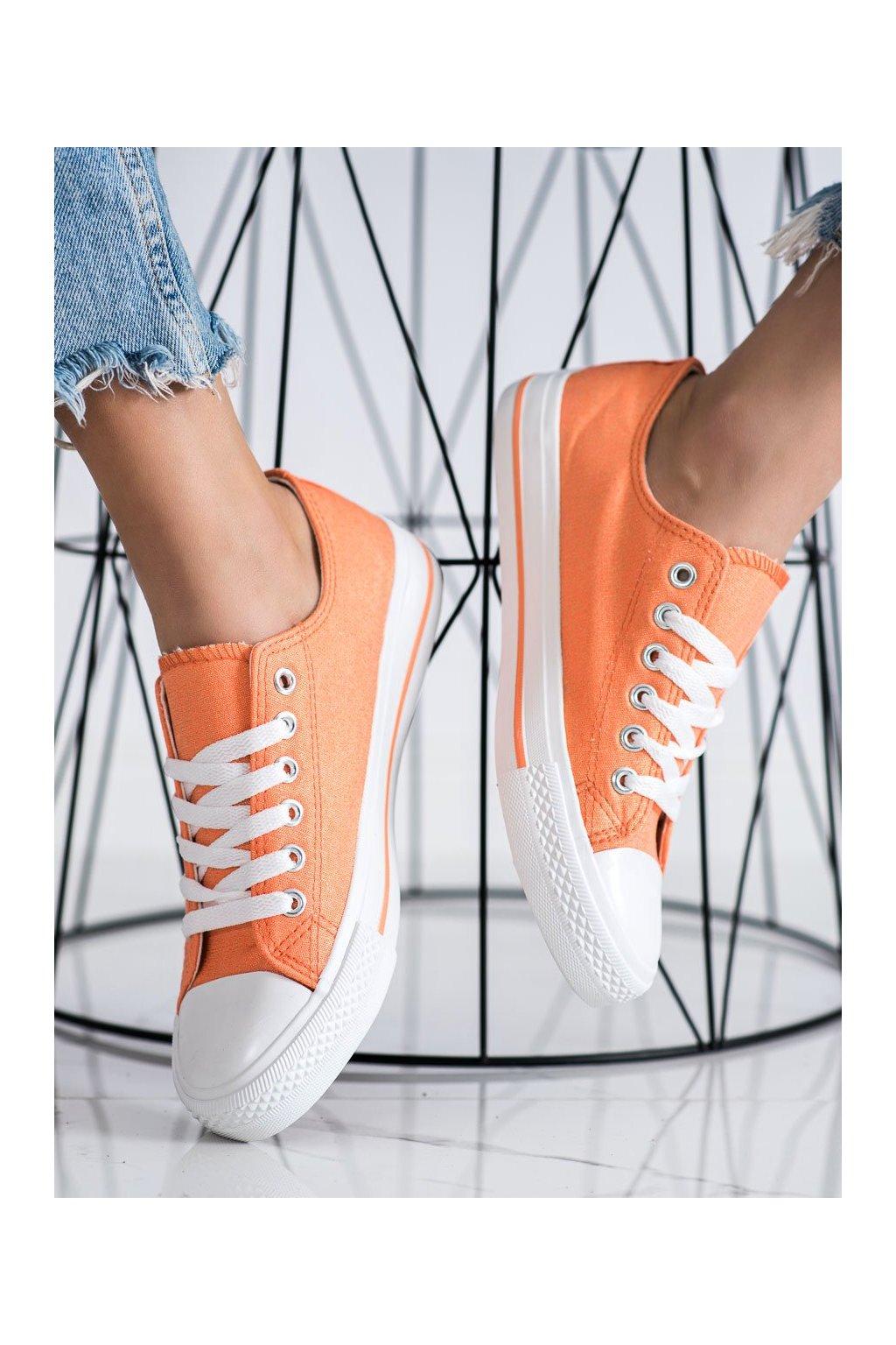 Oranžové dámske tenisky Shelovet kod LY-20OR