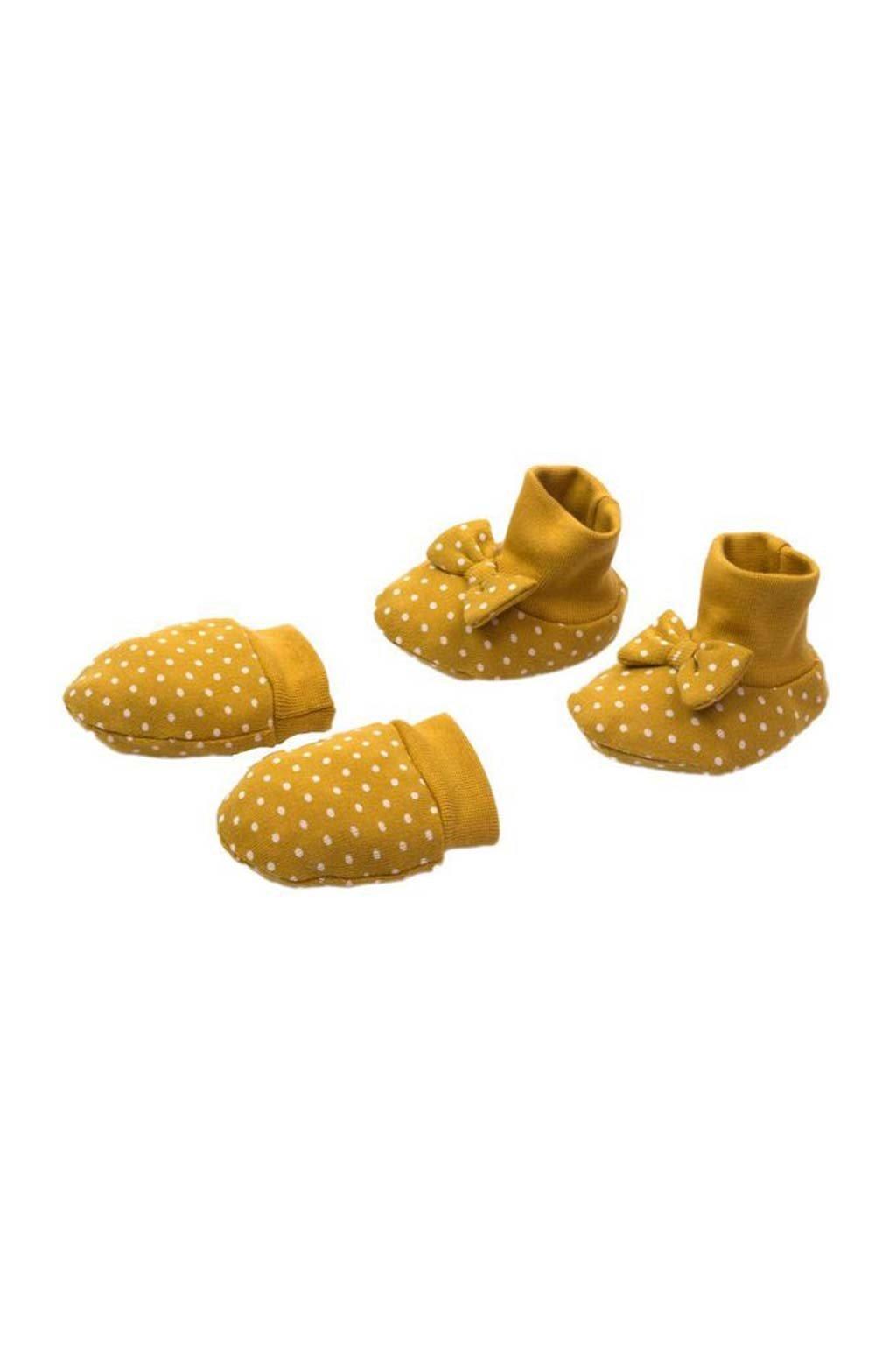 Dojčenský bavlnený set-capačky a rukavičky Nicol Michelle