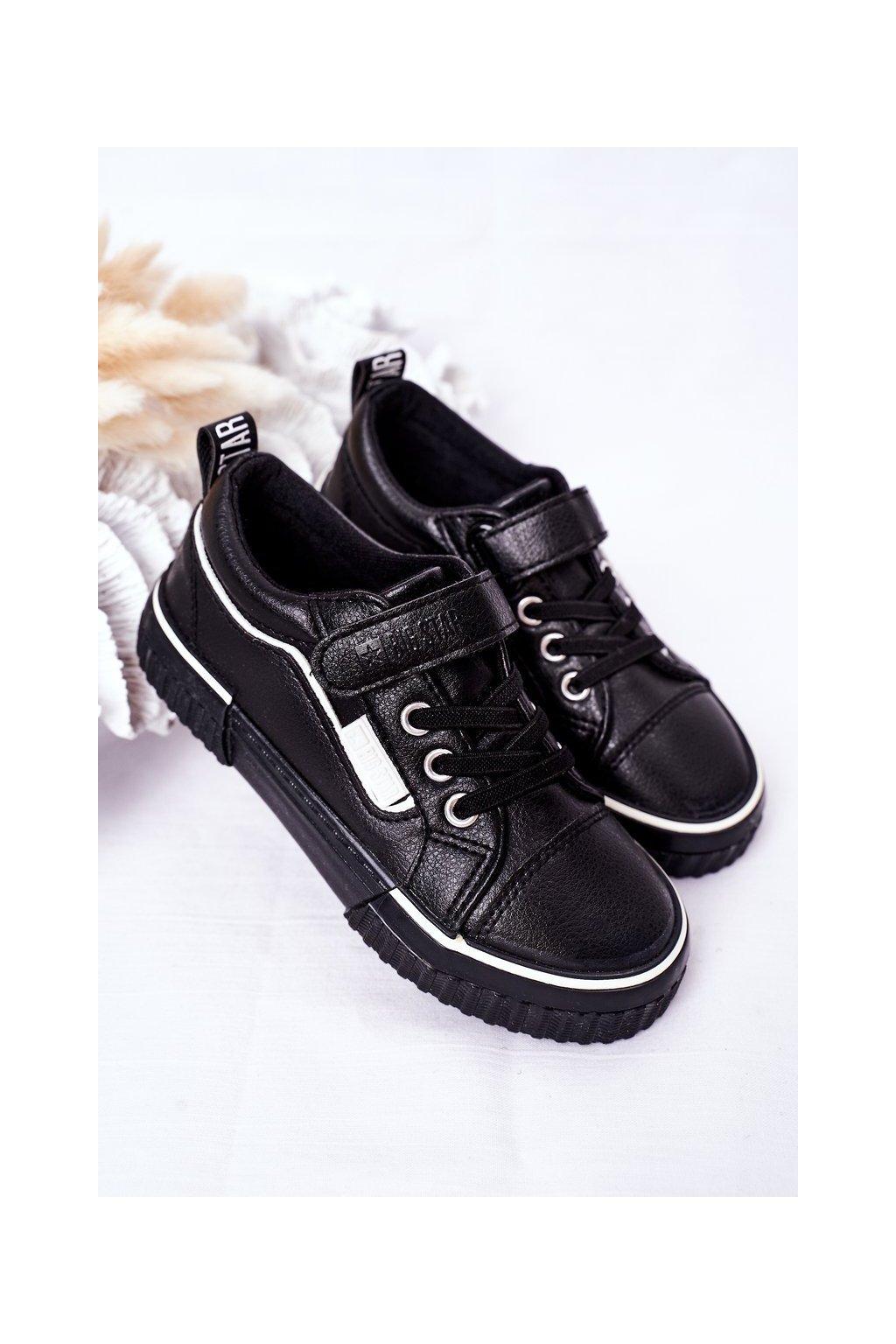 Detské tenisky farba čierna kód obuvi HH374029 BLACK