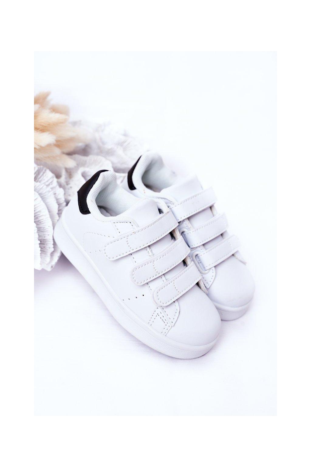 Detské tenisky farba čierna kód obuvi 902 WHITE/BLACK