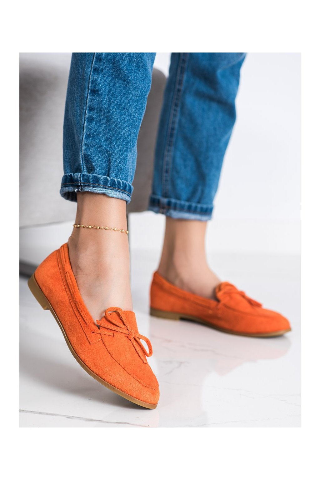 Oranžové mokasíny Coura kod 3394OR