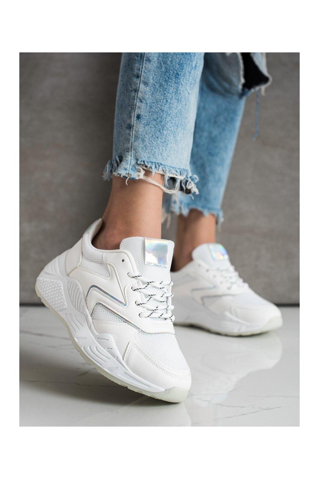 Biele tenisky Shelovet kod GB-003W
