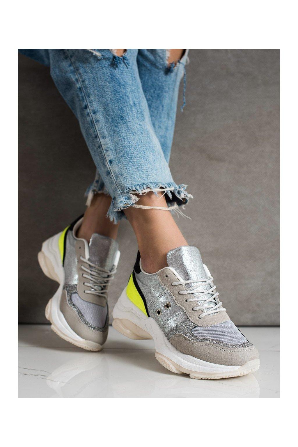 Sivé tenisky Shelovet kod SL801Y