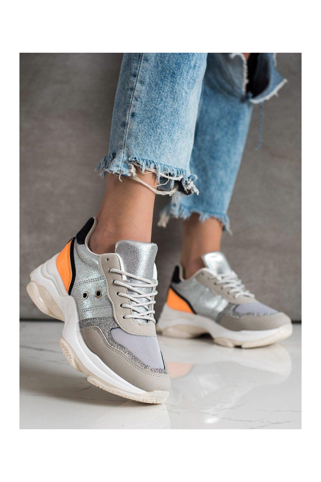 Sivé tenisky Shelovet kod SL801OR