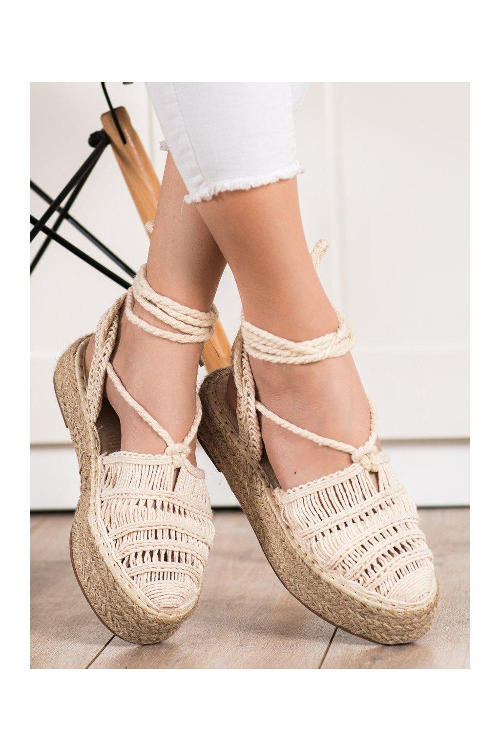 Hnedé sandále Small swan kod OM5460BE