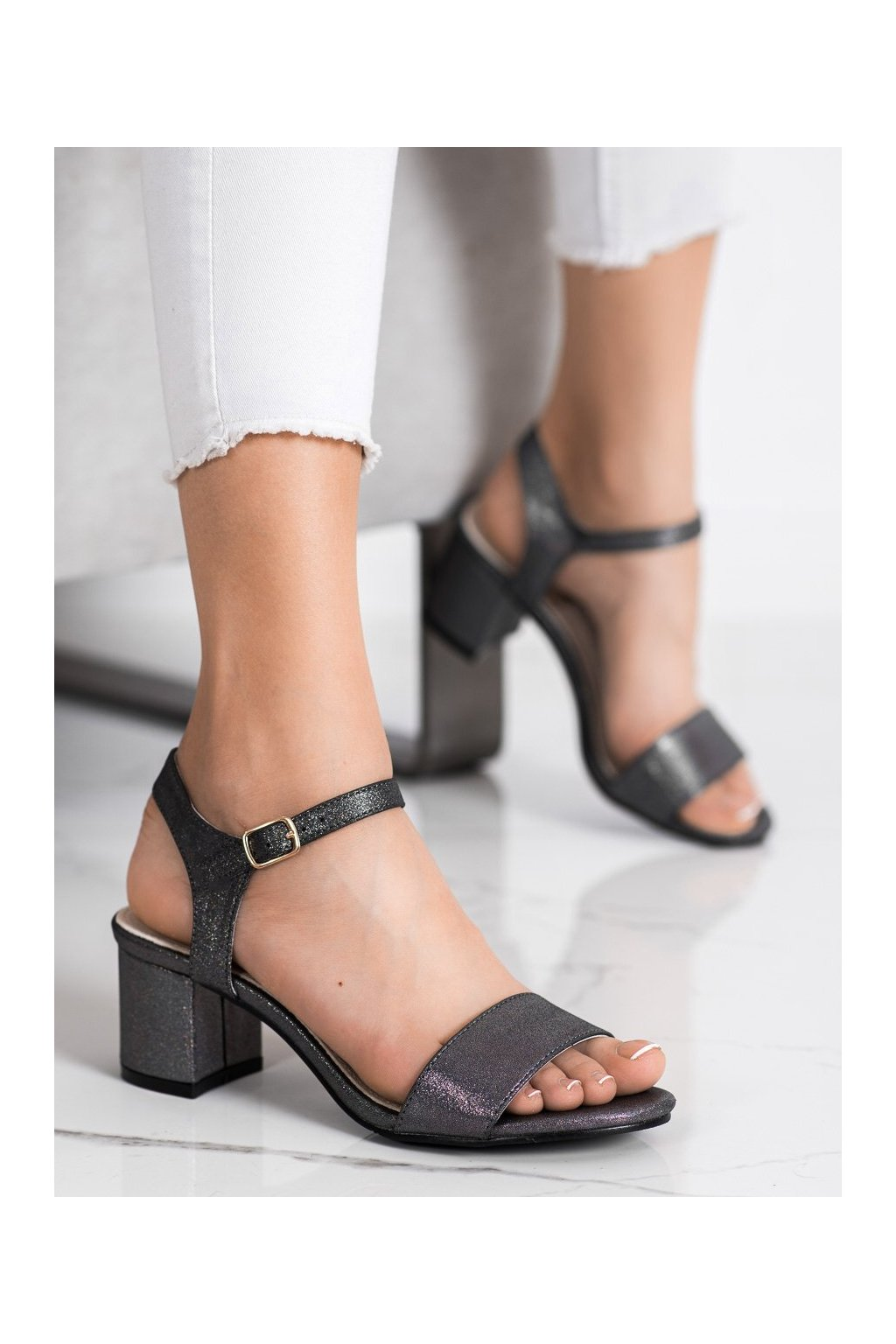 Sivé sandále Goodin kod GD-1028PEW