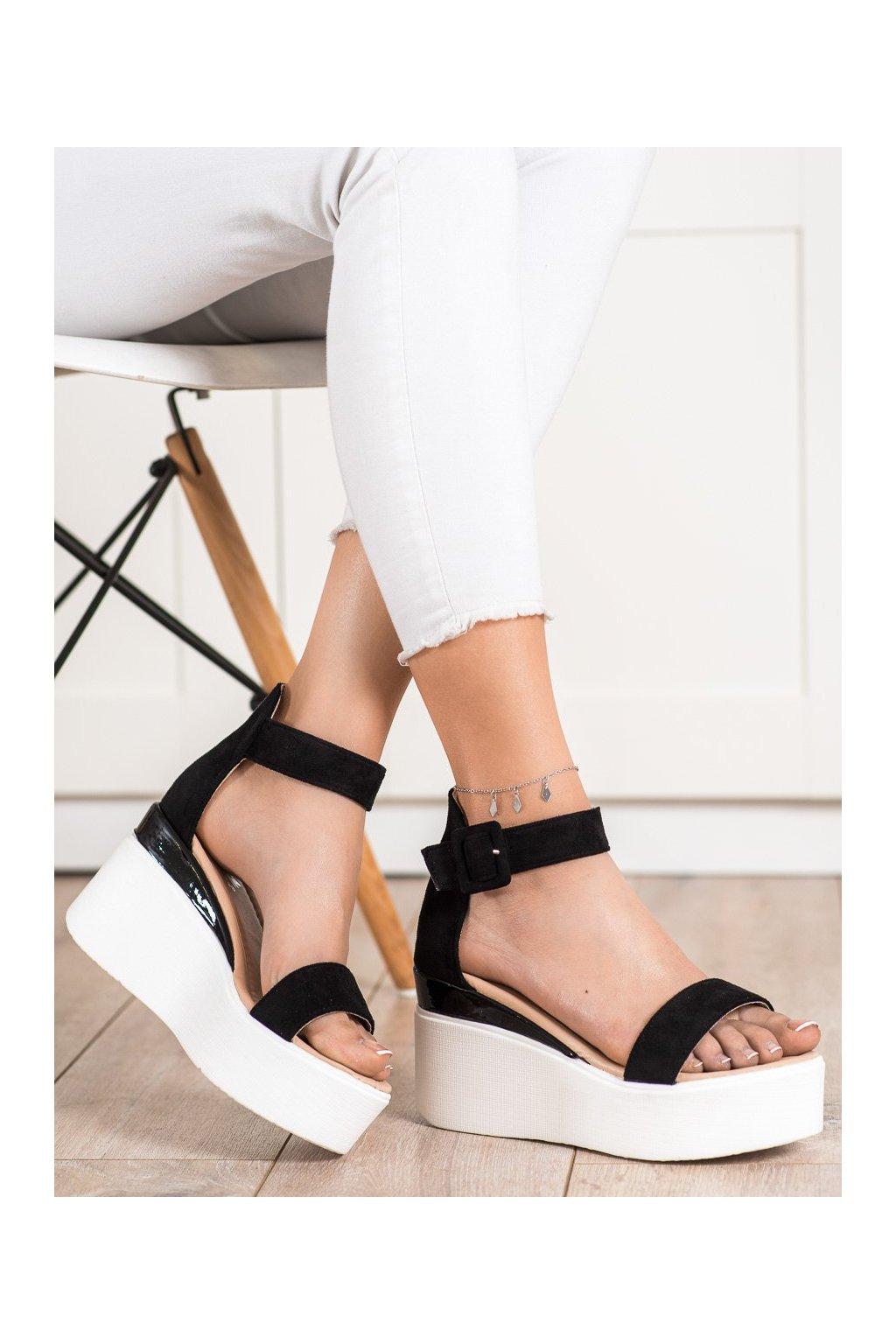 Čierne sandále Small swan kod OM5436B