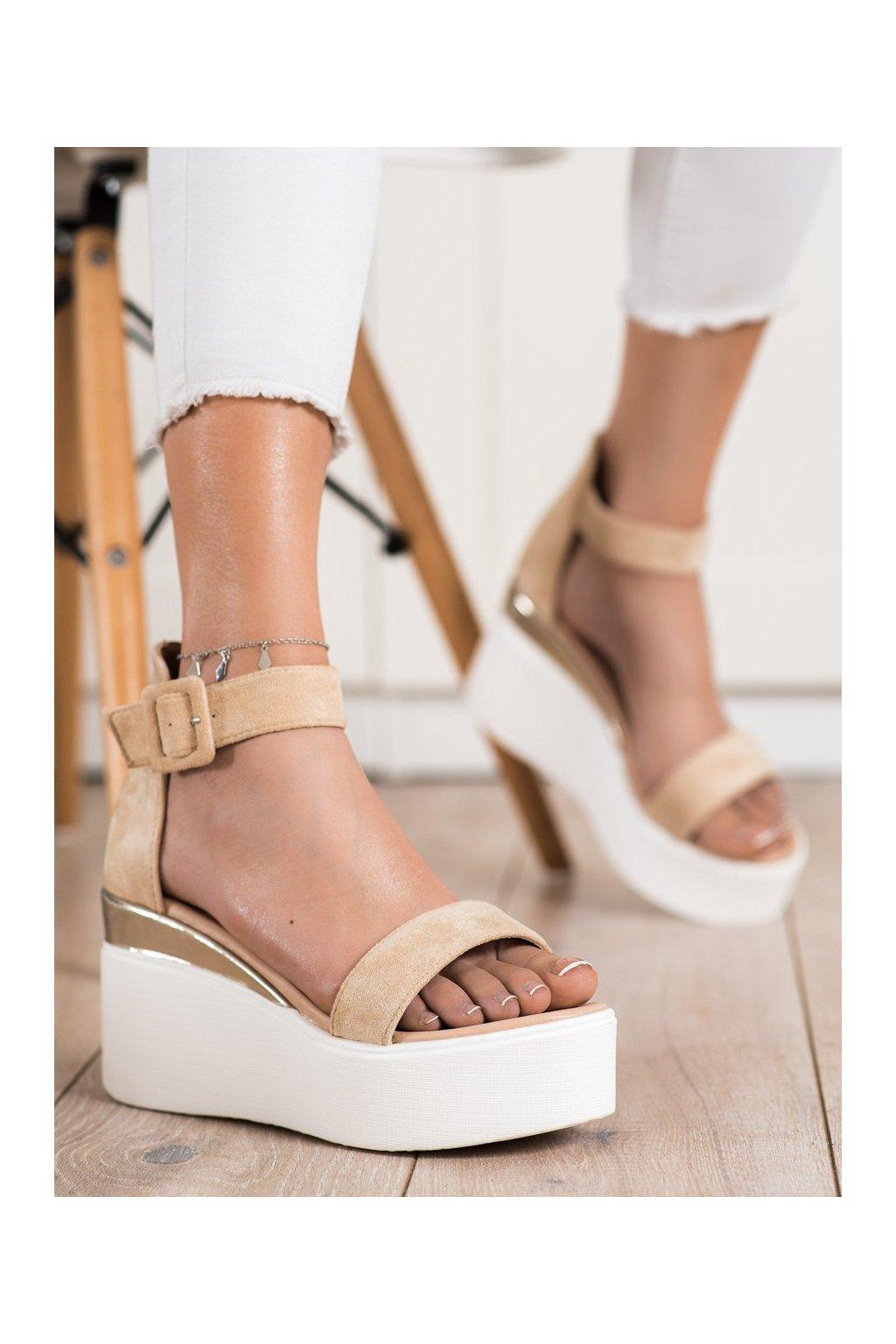 Hnedé sandále Small swan kod OM5436BE