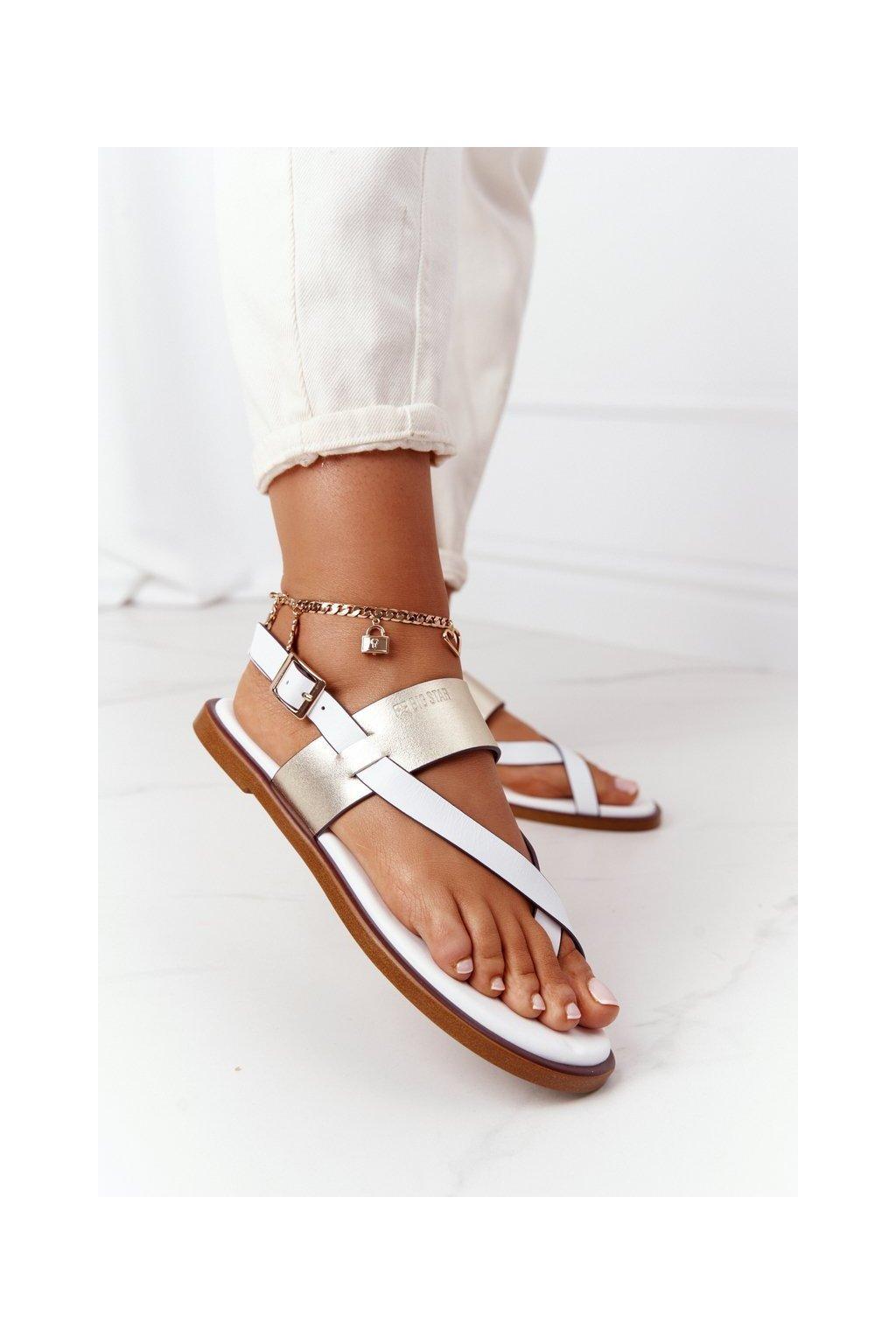 Dámske sandále farba biela kód obuvi HH274714 WHITE