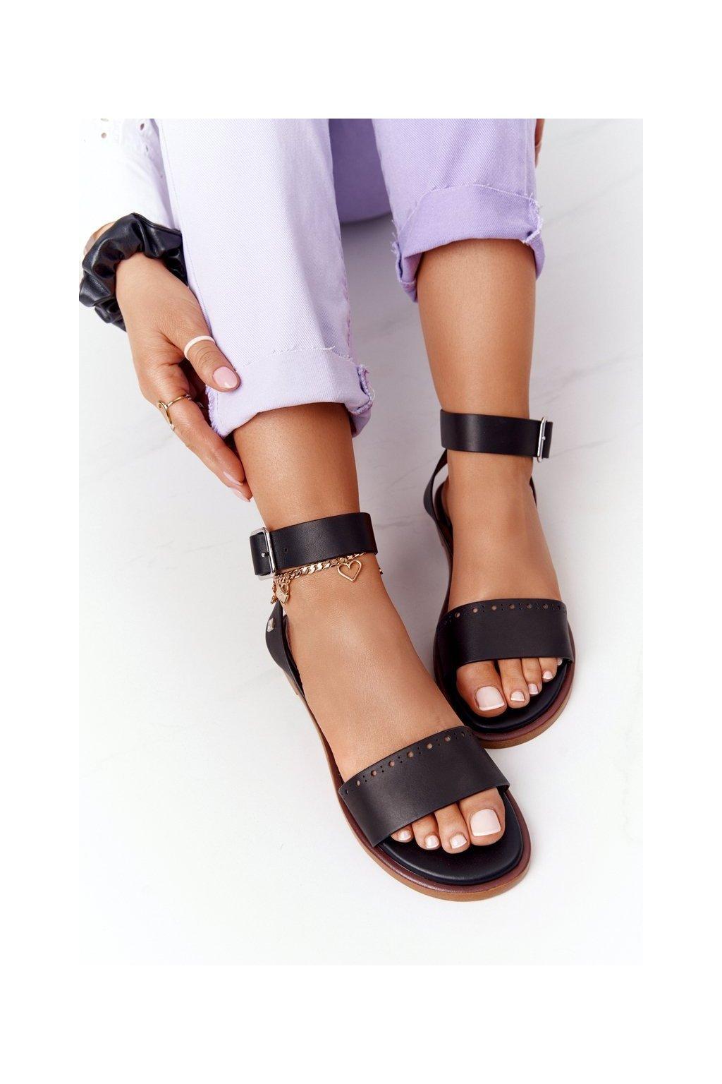 Dámske sandále farba čierna kód obuvi HH274720 BLACK