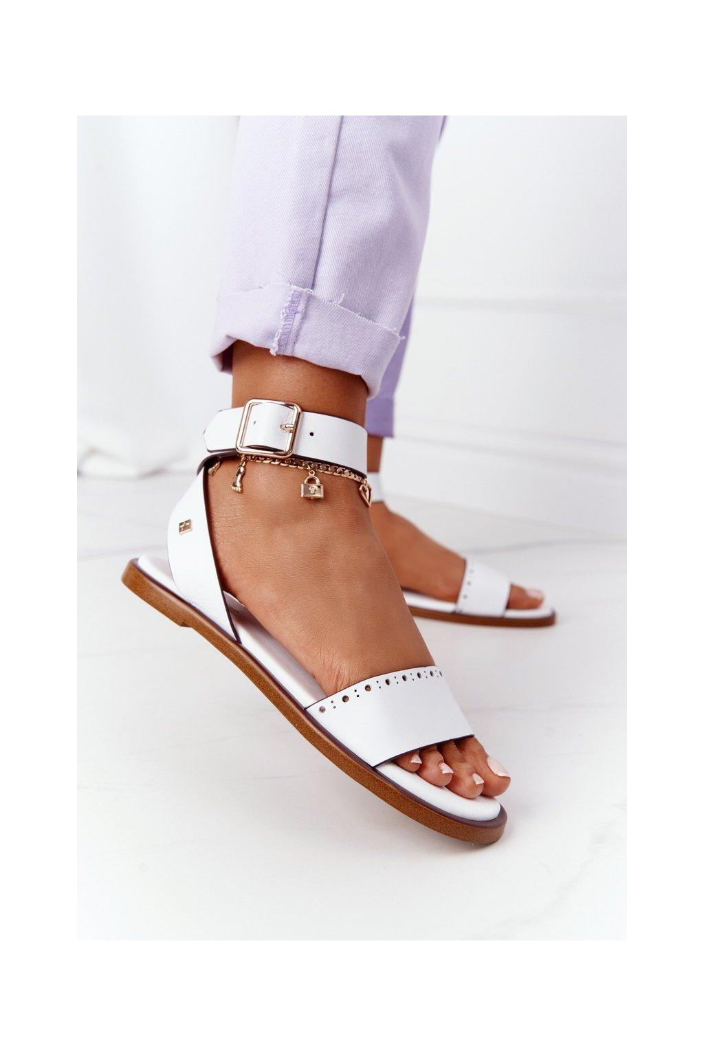 Dámske sandále farba biela kód obuvi HH274722 WHITE