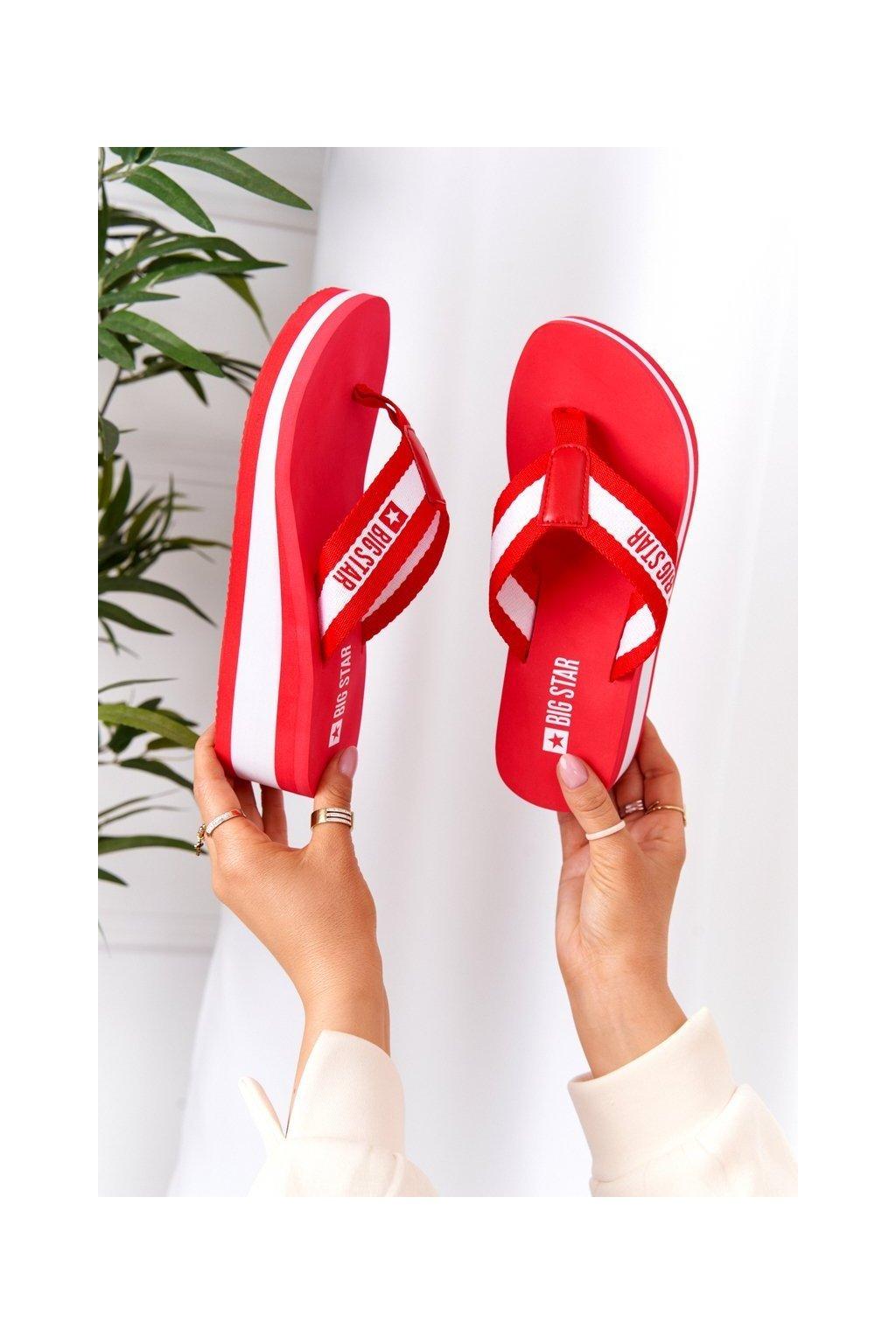 Dámske šľapky farba biela kód obuvi HH274A095 RED