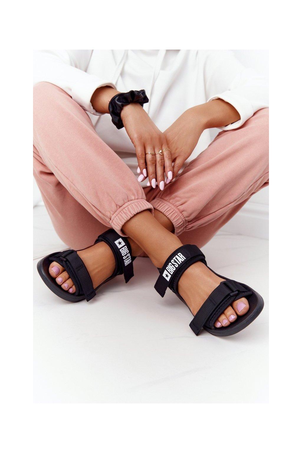 Dámske sandále farba čierna kód obuvi HH274A024 BLACK