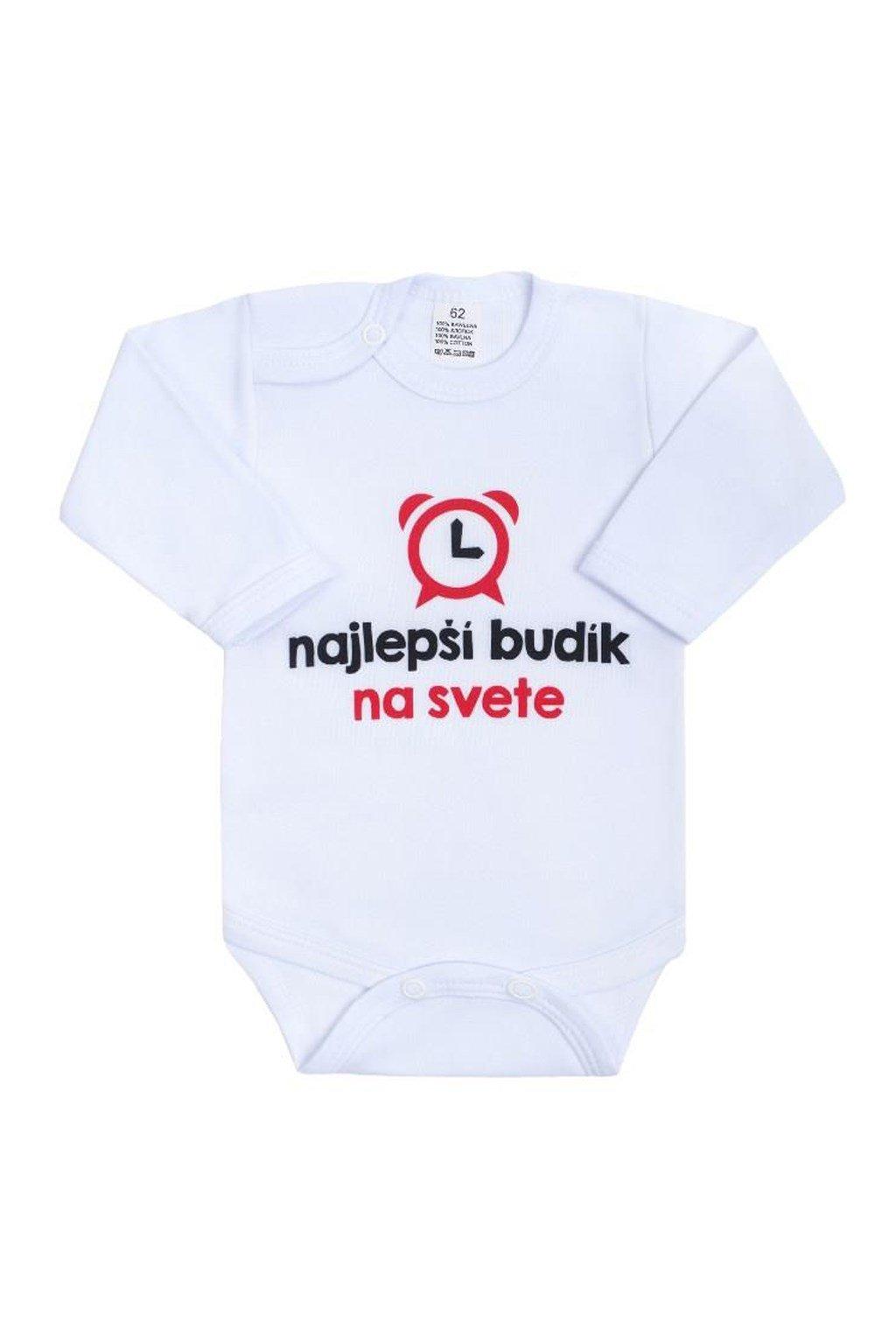 Body s potlačou New Baby najlepší budík na svete NJSK 42197