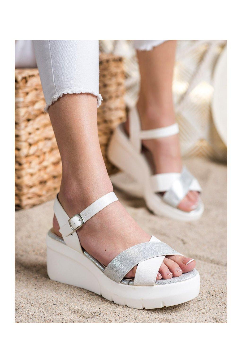 Biele sandále Small swan kod XH01W