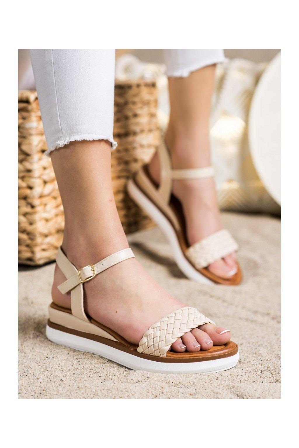 Hnedé sandále Shelovet kod W982BE