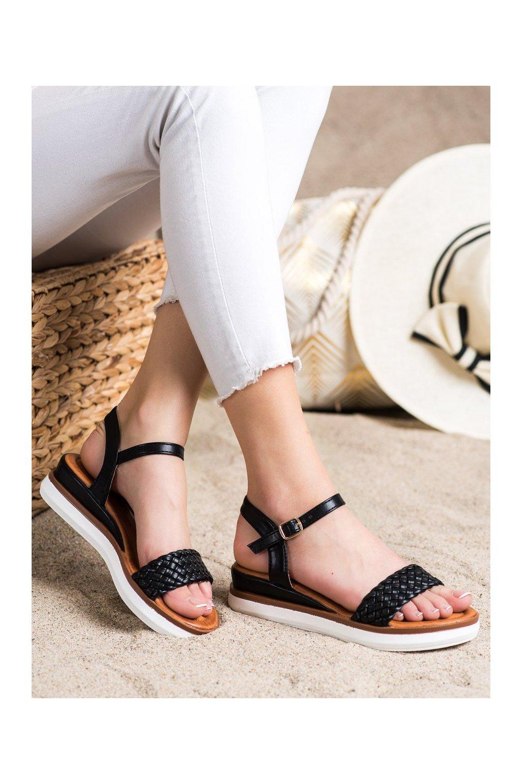 Čierne sandále Shelovet kod W982B