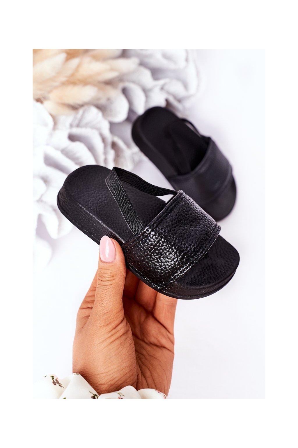 Detské šľapky farba čierna kód obuvi 294-A BLACK