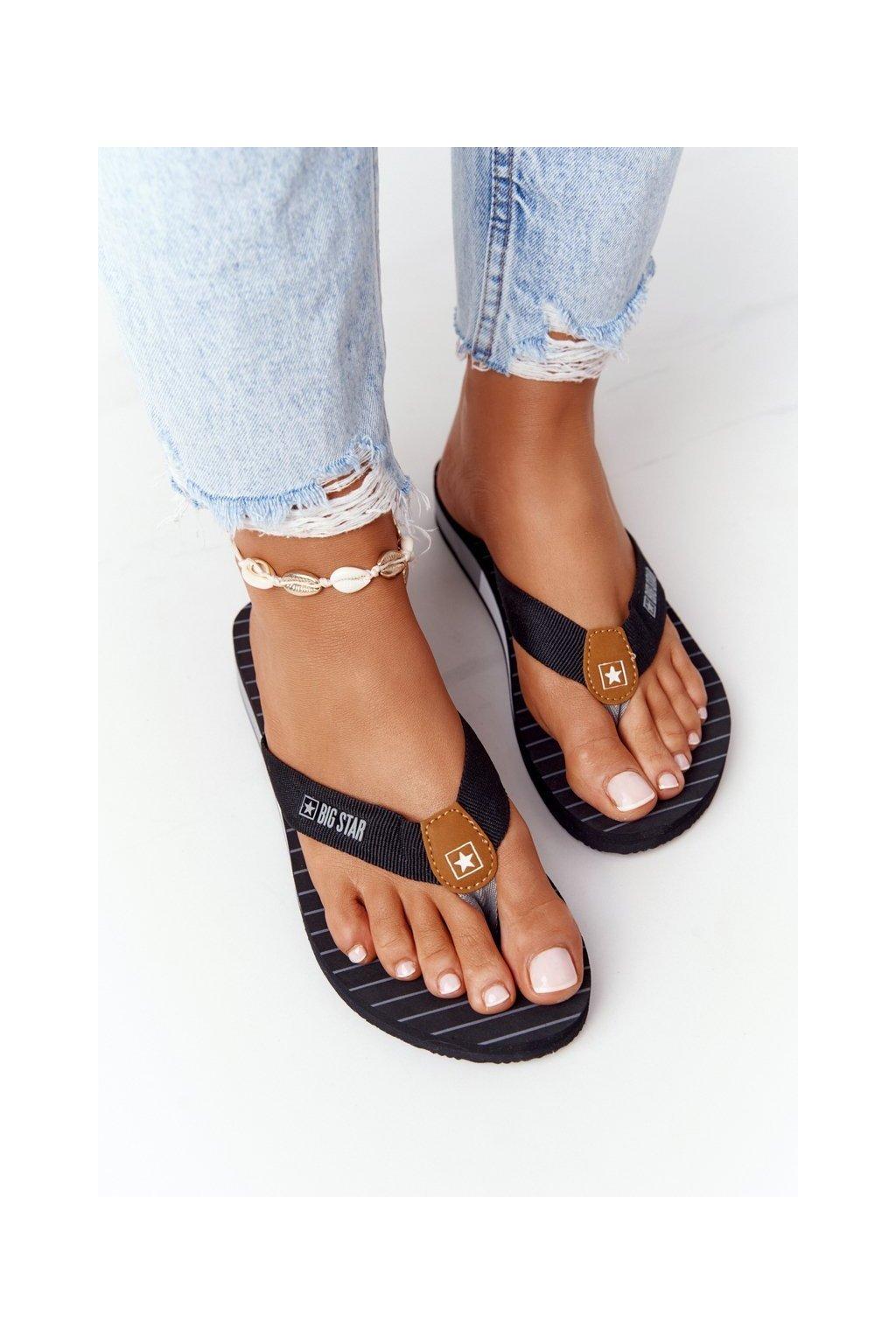 Dámske šľapky farba čierna kód obuvi DD274A247 BLACK