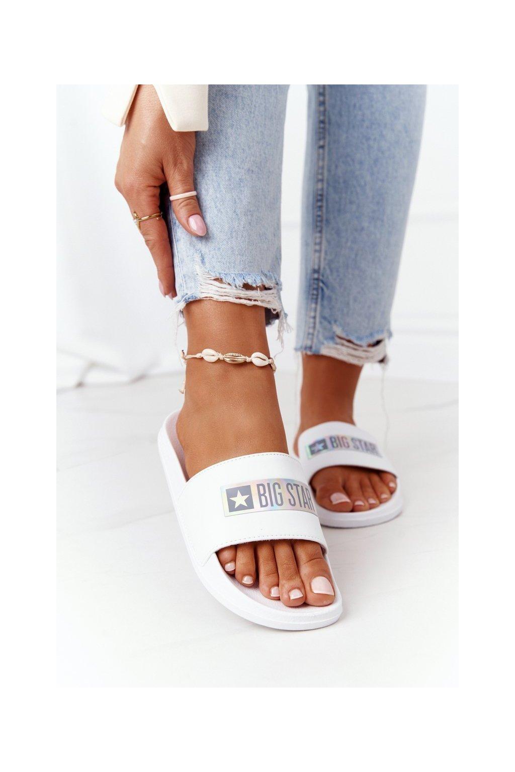 Dámske šľapky farba biela kód obuvi HH274A035 WHITE