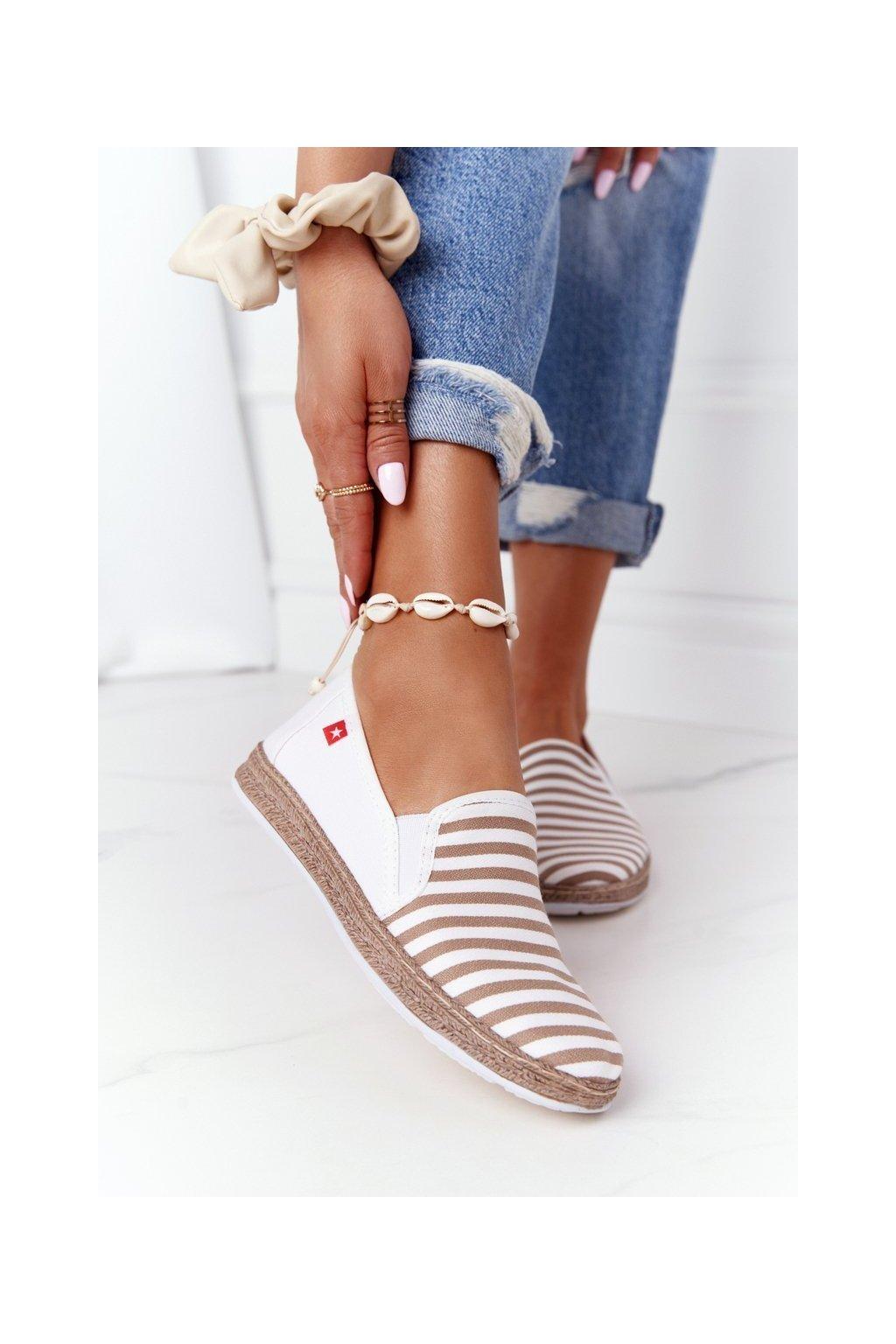 Dámske tenisky farba biela kód obuvi HH276001 BEIGE/WHITE