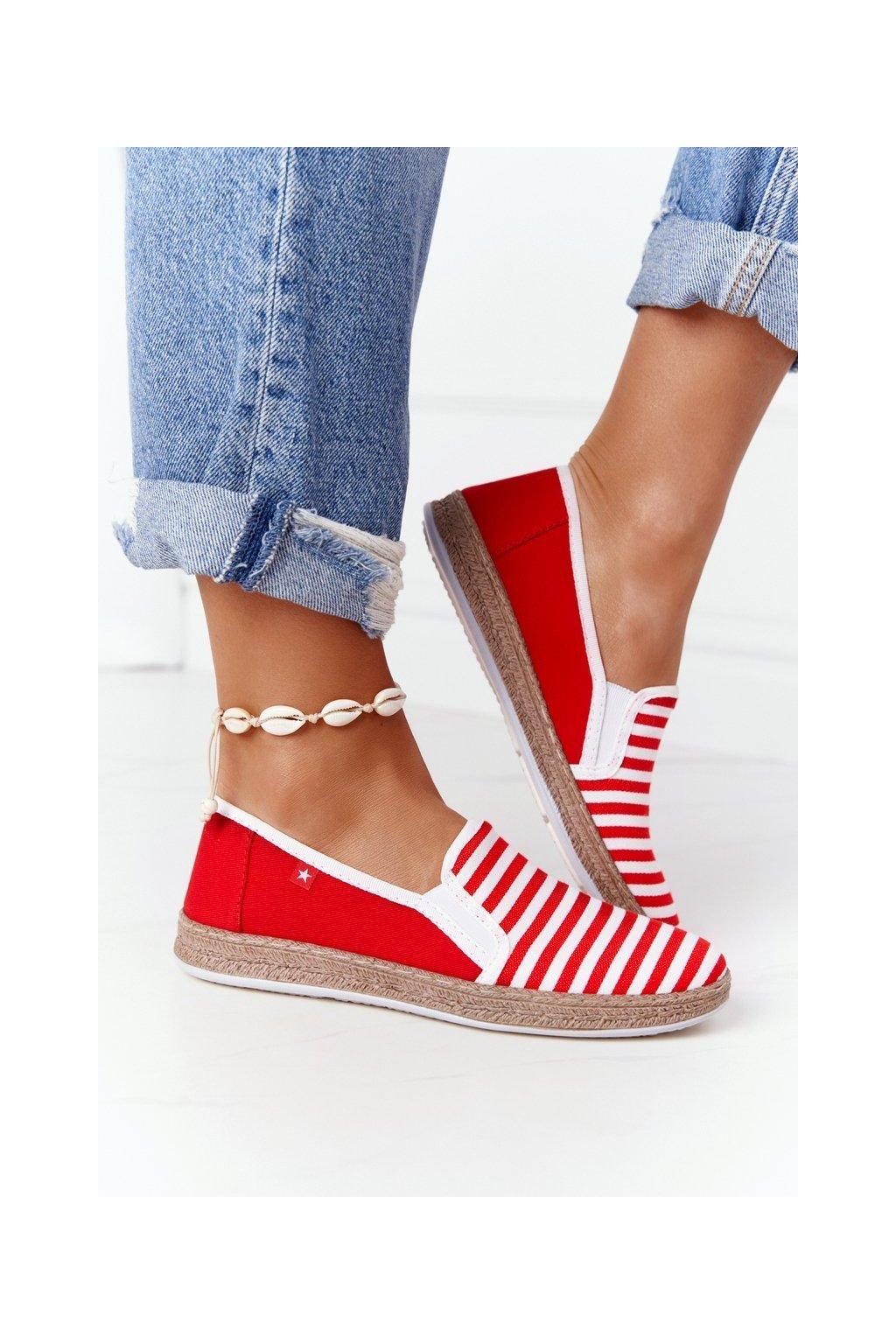 Dámske tenisky farba biela kód obuvi HH276003 RED/WHITE