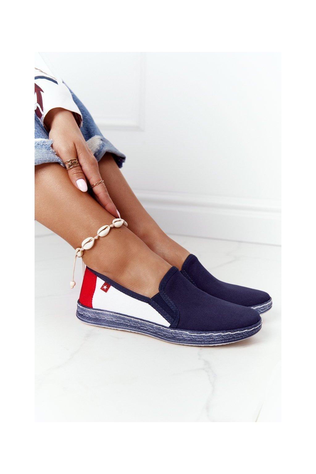 Dámske tenisky farba biela kód obuvi HH276008 NAVY/WHITE/RED