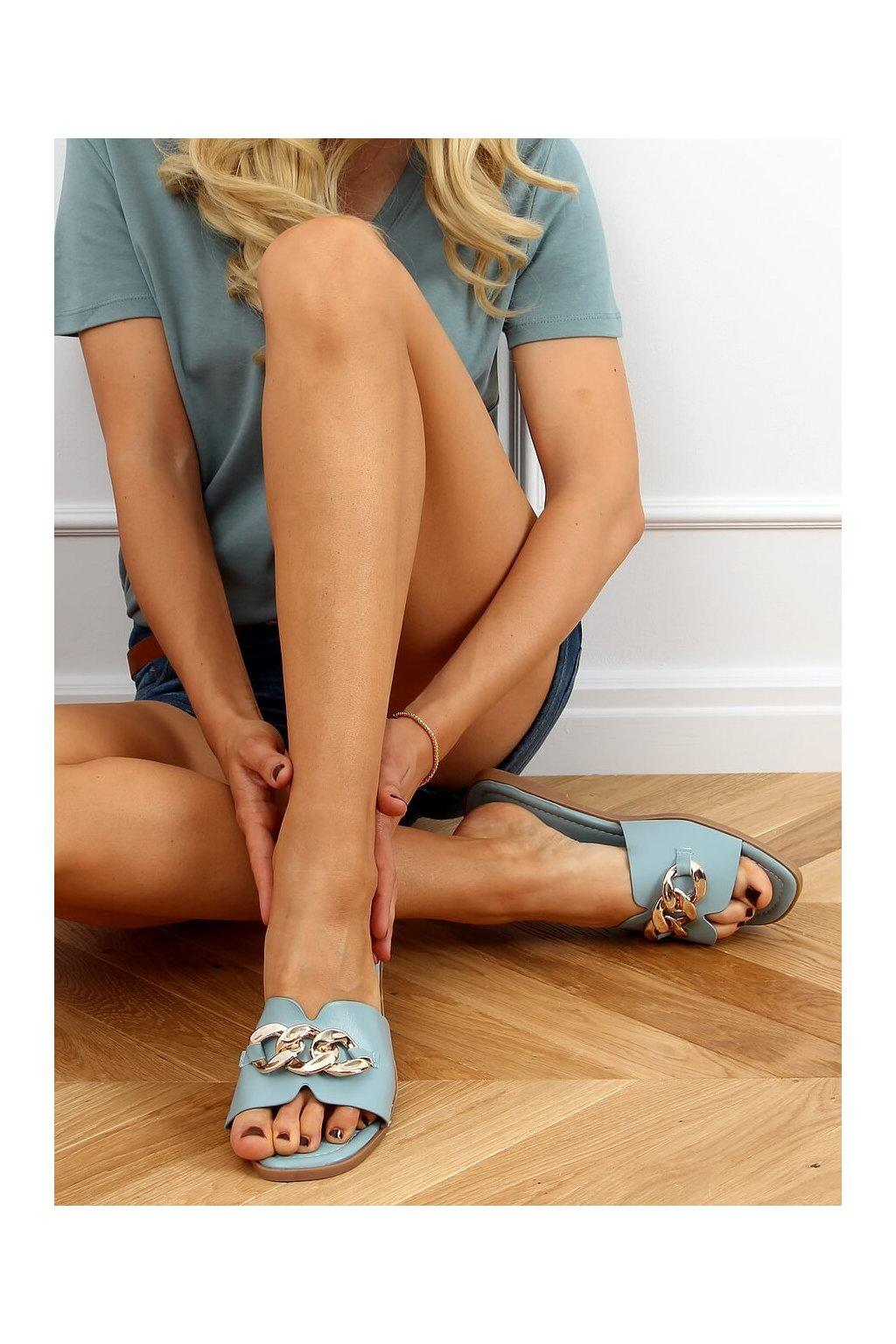 Damske šľapky modré 377